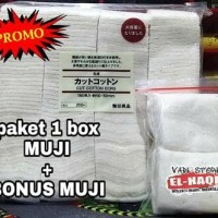 Jual PAKET HEMAT 1 BOX KAPAS MUJI COTTON + MUJI MINI BOX AUTHENTIC ORIGINAL Murah
