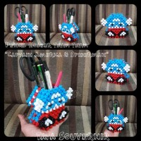 Jual Pensil Holder Tsum2 Captain America & Spiderman Murah