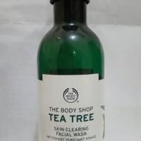 Jual Body Shop Tea Tree Facial Wash 150 mL Preloved Murah