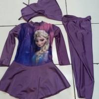 Jual baju renang muslim anak cewe frozen/kitty//TK /kelas 1-2 ( 4-8 tahun) Murah