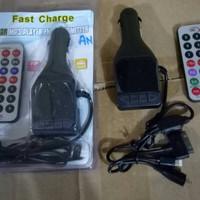 Jual Car Charger Modulator Mobil Saver Mp3 Fm Remote Kabel 3 In 1 Murah