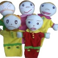 Jual Mainan Edukatif Anak - Boneka Tangan Hand Puppet Ekspresi Orang Murah