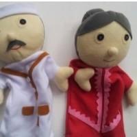 Jual Mainan Edukatif Anak - Boneka Tangan Hand Puppet Aki Nini Kakek Nene Murah