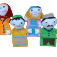 Jual Mainan Edukatif Anak - Boneka Tangan Hand Puppet Keluarga Muslim Murah