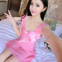 Jual New  SEXY lingerie baju tidur SATIN,CHIFFON piyama DRESS Murah