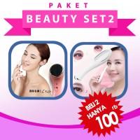 Jual L9163 Paket Beauty Set 2  Setrika Wajah & Alat KODE PL9163 Murah