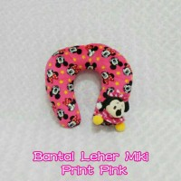 Jual headrest bantal jok leher mobil boneka mini minnie mouse pink fanta Murah