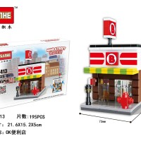 Lego Mini Street HSANHE 6413 / Mainan Susun Brick Mini Market