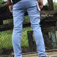 Jual Celana Jeans Pria Skinny/ Pensil/ biru muda/ biru langit. Murah