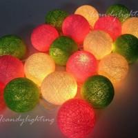Jual Cotton Ball Light Tiana Candy LED Baterai / LED Colokan / Tumblr Lamp Murah