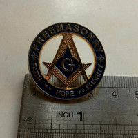 Jual Vintage Mason Freemason Fait  Hope Charity Cut-Out Simbol G Lapel Pin  Murah