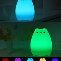 Jual Lampu Tidur LED Kucing Lucu 7 Warna (Kado Unik) Murah