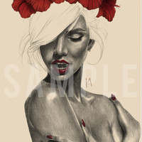 Red Hibiscus A5 Prints