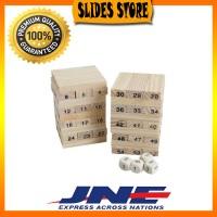 Jual HIGH QUALITY Mini Wooden Uno Stacko 48 Balok Murah