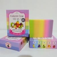 Jual FRUTAMIN SOAP 10 IN 1 / FRUITAMIN SOAP ORIGINAL THAILAND Murah