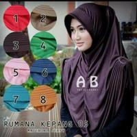 Jual Jilbab Premium High Quality Instan kerudung Hijab Syari Rumana Kepang  Murah