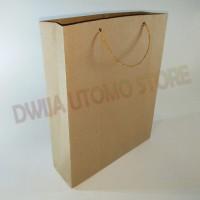 Jual Paper Bag / Tas Kertas Craft Polos Coklat 18x6x22 Murah