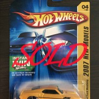 Hot Wheels Hotwheels 69 Ford Mustang 2007 Model Yellow