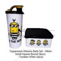 Jual Tupperware Minion Set - Hitam Murah