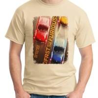 Jual Fast & Furious 7 Poster 01 - Kaos Film / Kaos Pria / Kaos Movies Murah