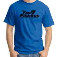 Jual Fast & Furious 7 Logo 01 - Kaos Film / Kaos Pria / Kaos Movies Murah