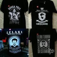 Kaos Pria Terbaik Lahir di Bulam September Oktober November Desember