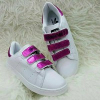 Sepatu Adidas Stan Smith Pink straps Import Women