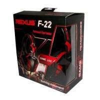 Jual HEADSET GAMING REXUS F22 / ADA MIC / AKSESORIS KOMPUTER / PC Murah