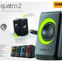 Jual SPEAKER SONIC GEAR QUATRO 2 / MUSIC / COMPUTER / GARANSI RESMI 1 TAHUN Murah