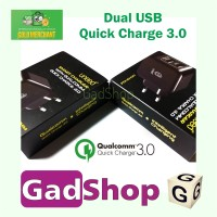 Jual UNEED Dual USB Smart Charger 30W Qualcomm Quick Charge 3.0 Murah