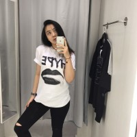Jual HYPE BAE Life ain't Lie Oversized Streetwear kaos distro Murah