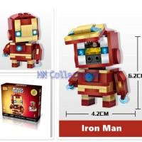 Jual LOZ Lego Mini Brickheadz Figure Iron Man Captain America Murah