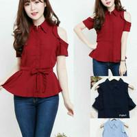 Jual Blouse cut out top / atasan wanita / baju atasan wanita/ blouse import Murah