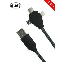 Jual Kabel Charger 3 in 1 Type C/Micro USB/Lightning Informa nof Murah