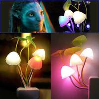 Jual Termurah Lampu Tidur Jamur Avatar Mushroom Sensor Cahaya LED Night Lam Murah