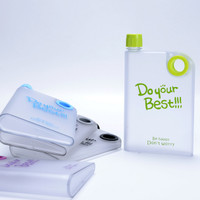 Jual PROMO New Memo Bottle Do Your Best Doff / Botol Minum Plastik Memo Bot Murah