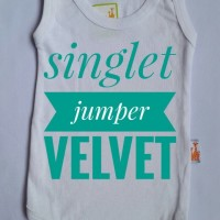 Jual Velvet Singlet Jumper Ukuran S Murah