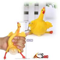 Jual BEST SELLER splat toy AYAM Bertelur squishy slime gantungan kunci ayam Murah