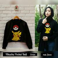 Jual Paling Murah Pikachu Pockeball Crop Sweater Murah