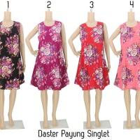Jual Daster Batik Baju Tidur - Daster Payung Singlet Bunga HR Murah
