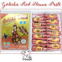 Jual [BOX isi 12] Red Golecha Cone Henna Paste / Henna Art (KC) Murah