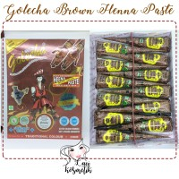 Jual [BOX isi 12] Brown Golecha Cone Henna Paste / Henna Art (KC) Murah