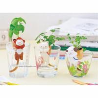 Jual Tanaman pot rumput mini lucu, tanaman hias, tanaman lucu Murah