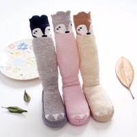 Jual Skidder middle socks bayi, Sepatu kaos kaki panjang anak bentuk rubah Murah