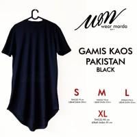 Jual baju gamis pakistan lengan pendek hitam ,baju muslim pria Murah