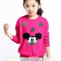 mickey kids atasan baju rajut anak perempuan sweater murah