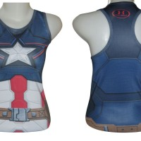 Jual Singlet Gym Fitness Senam Yoga Import Under Armour Captain America Murah