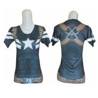 Jual Baju Gym Fitness Senam Yoga Import Under Armour Captain America Wanita Murah