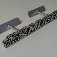 Emblem Grill Depan Mobil Mugen Hitam