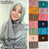 Jual Jilbab Instan Amira Bubble / Maulida Hijab Store / grosir kerudung Murah